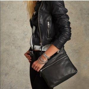 Margot Black Pebbled Leather Purse Handbag